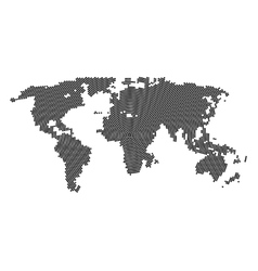halftone world map Continents for your vector image