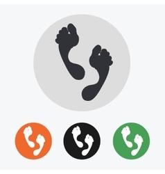 Hand drawn footprints icons set vector image vector image
