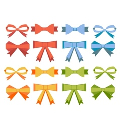 The collection of flat bow vector image