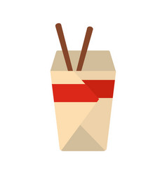 chinese fast food icon flat style vector image vector image