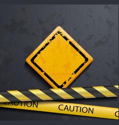 metal warning sign vector image vector image