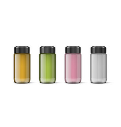 3d bottle with sunflower olive and rose vector image