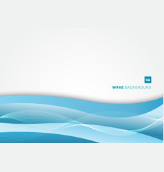 Abstract blue wave layer on white background vector