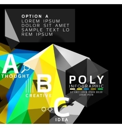 Abstract triangle option infographic template vector image