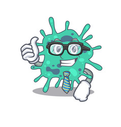 An elegant shigella boydii businessman mascot vector