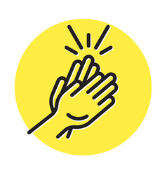 Applause clapping hand flat colours icon vector