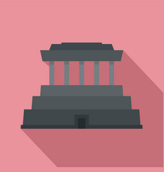 asia temple icon flat style vector image