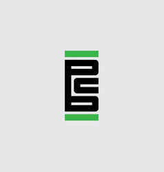 bc - monogram or logotype design element or icon vector image