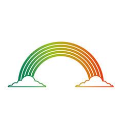 black and white rainbow color cloud magic fantasy vector image