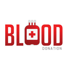 blood donation cartoon graphic vector image