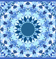 blue seamless kaleidoscope pattern background vector image