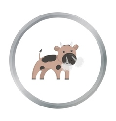 Bull cartoon icon for web and mobile vector image