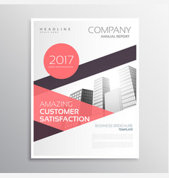 business brcohure template design with geometric vector image