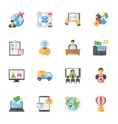 Business purchase flat icons vector
