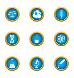 Chemical influence icons set flat style vector