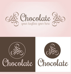 Chocolate logo template vector