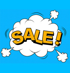 comic sale discount vector image