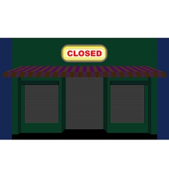 Convenience store Shop at night Plate is closed vector image
