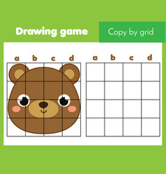 Copy picture grid educational game vector
