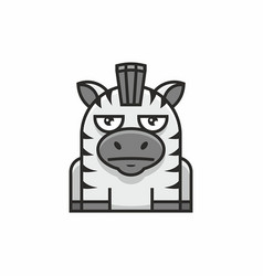 cute zebra icon on white background vector image