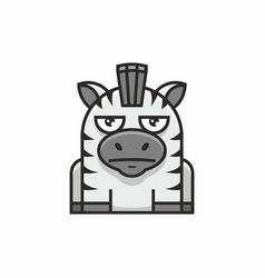 cute zebra icon on white background vector image