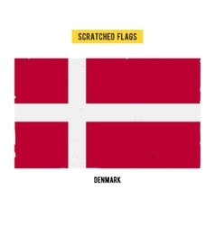 Danish grunge flag with little scratches on vector