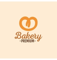 Delicious bakery label vector image