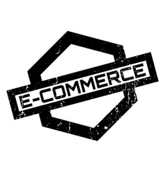 e-commerce rubber stamp vector image