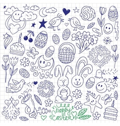 Easter - doodles vector image