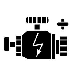 engine car icon black sign vector image