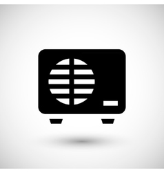 External air conditioning unit icon vector