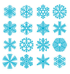 flat design christmas snowflakes vector image