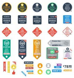 Flat Pricing Tables Vol2 vector image
