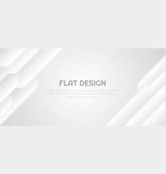 Flat white background rounded line design overlap vector