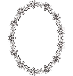 frame oval vector image