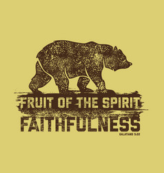 fruit of the spirit faithfulness vector image