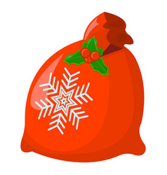 gift xmas isolated icon cartoon style for vector image