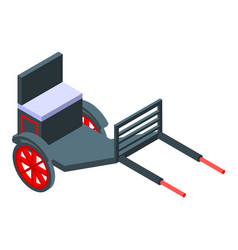 Hand carriage icon isometric style vector