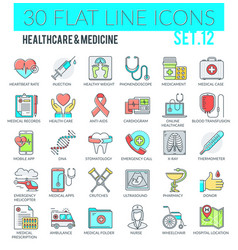 healthcare medicine icons vector image