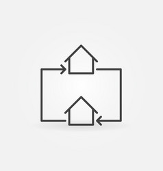 house exchange line icon vector image