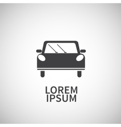 Icon flat element design car vector image