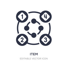 Item interconnections icon on white background vector