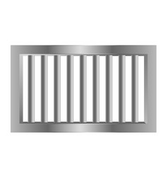 Jail prision steel bars made with metal vector