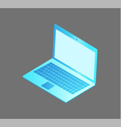 Laptop with keyboard screen vector