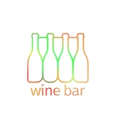 Logo design for bar with bottles vector