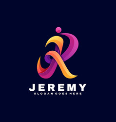 logo jeremy gradient colorful style vector image