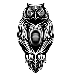 Majestic owl vector