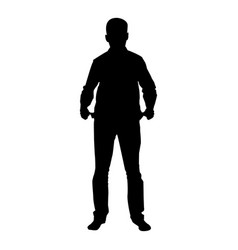 man took out his empty pockets businessman has vector image