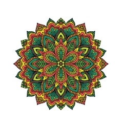 Mandala pattern flower vector