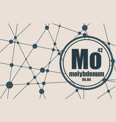 molybdenum chemical element vector image